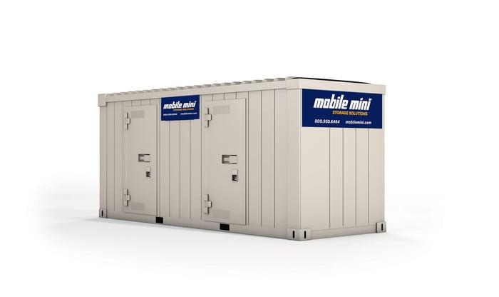 A Mobile Mini storage container.