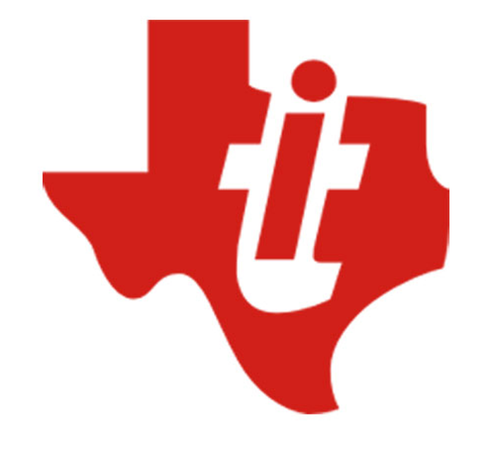 TI's corporate logo, red on a white background