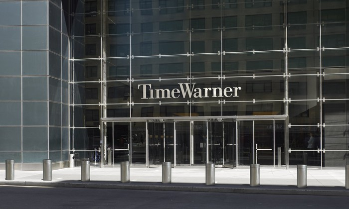 Exterior of Time Warner headquarters