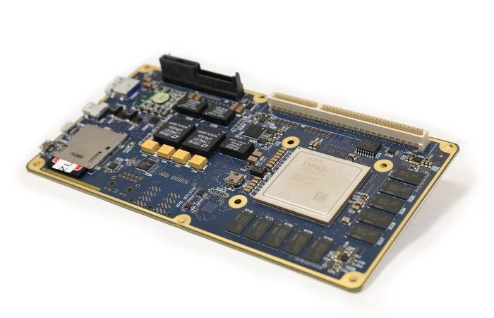 A Xilinx multi-processor system-on-a-chip.