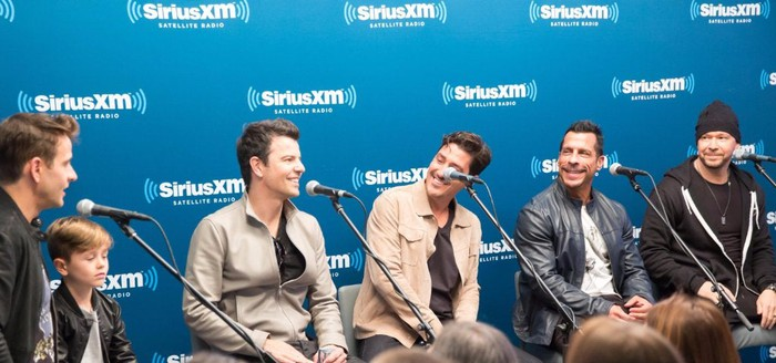 New Kids on the Block at a Sirius XM Town Hall.
