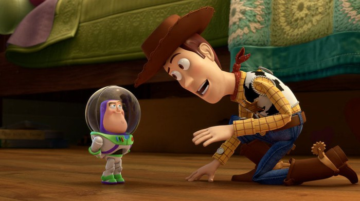 """Woody and Buzz in Pixar's """"Small Fry."""""""