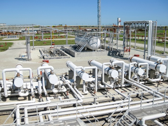A natural gas processing unit.