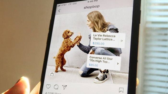 An example of shoppable product tags on Instagram