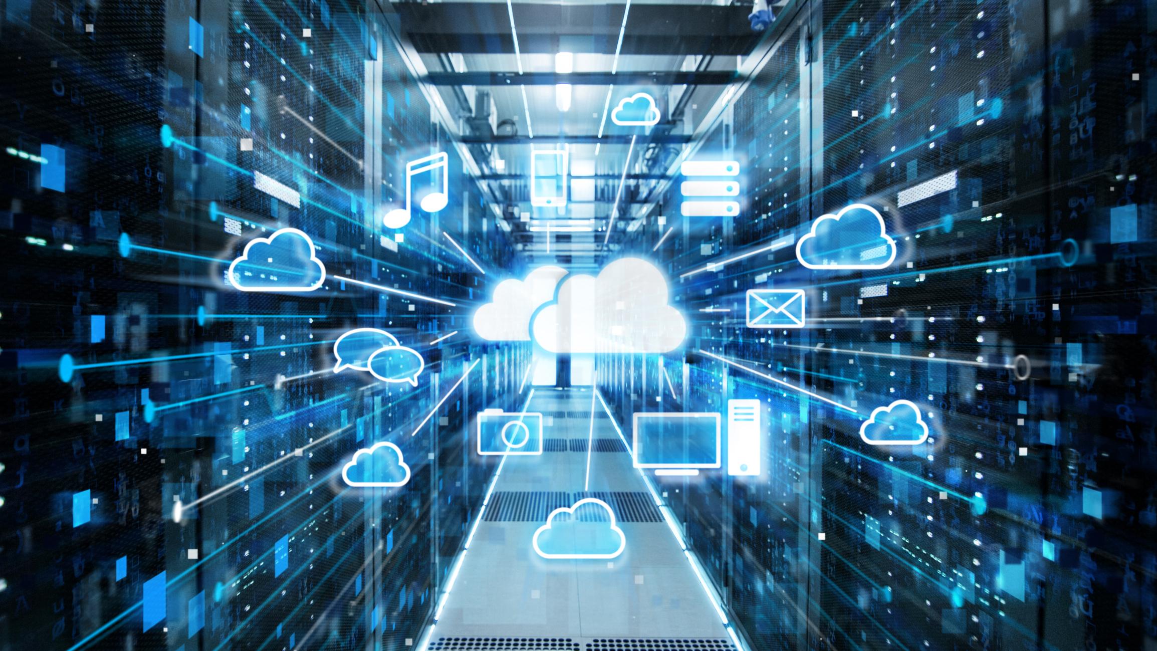 An illustration of a cloud data center.