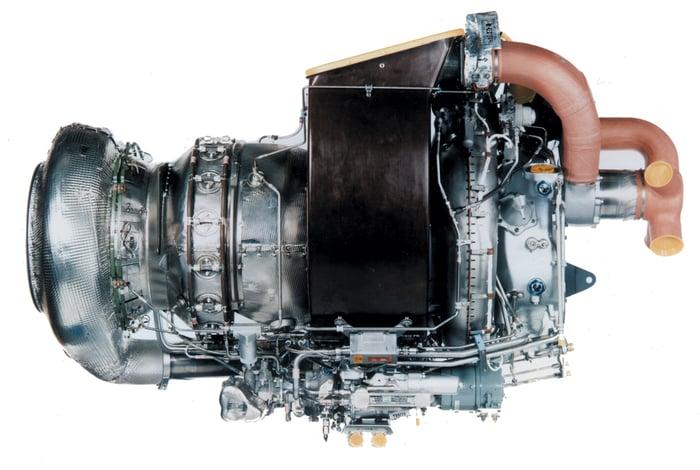 A Pratt & Whitney auxiliary power unit.