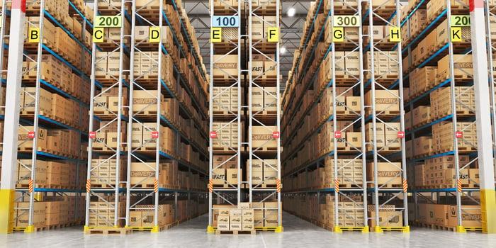 A supply chain warehouse.