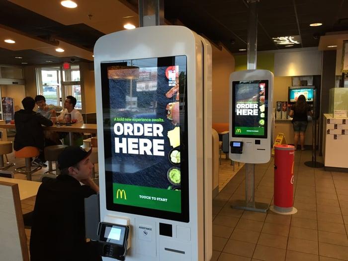 McDonald's self-ordering kiosk