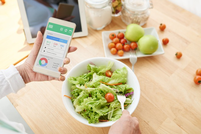 A salad and weight loss phone application