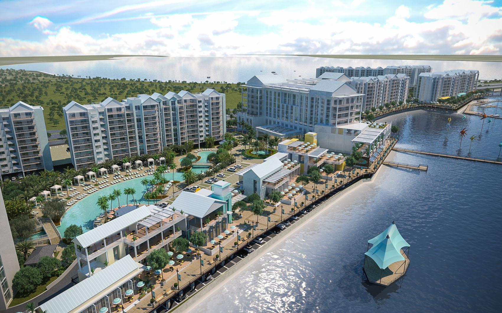 A rendering of an aerial view of Allegiant's Sunseeker Resort.