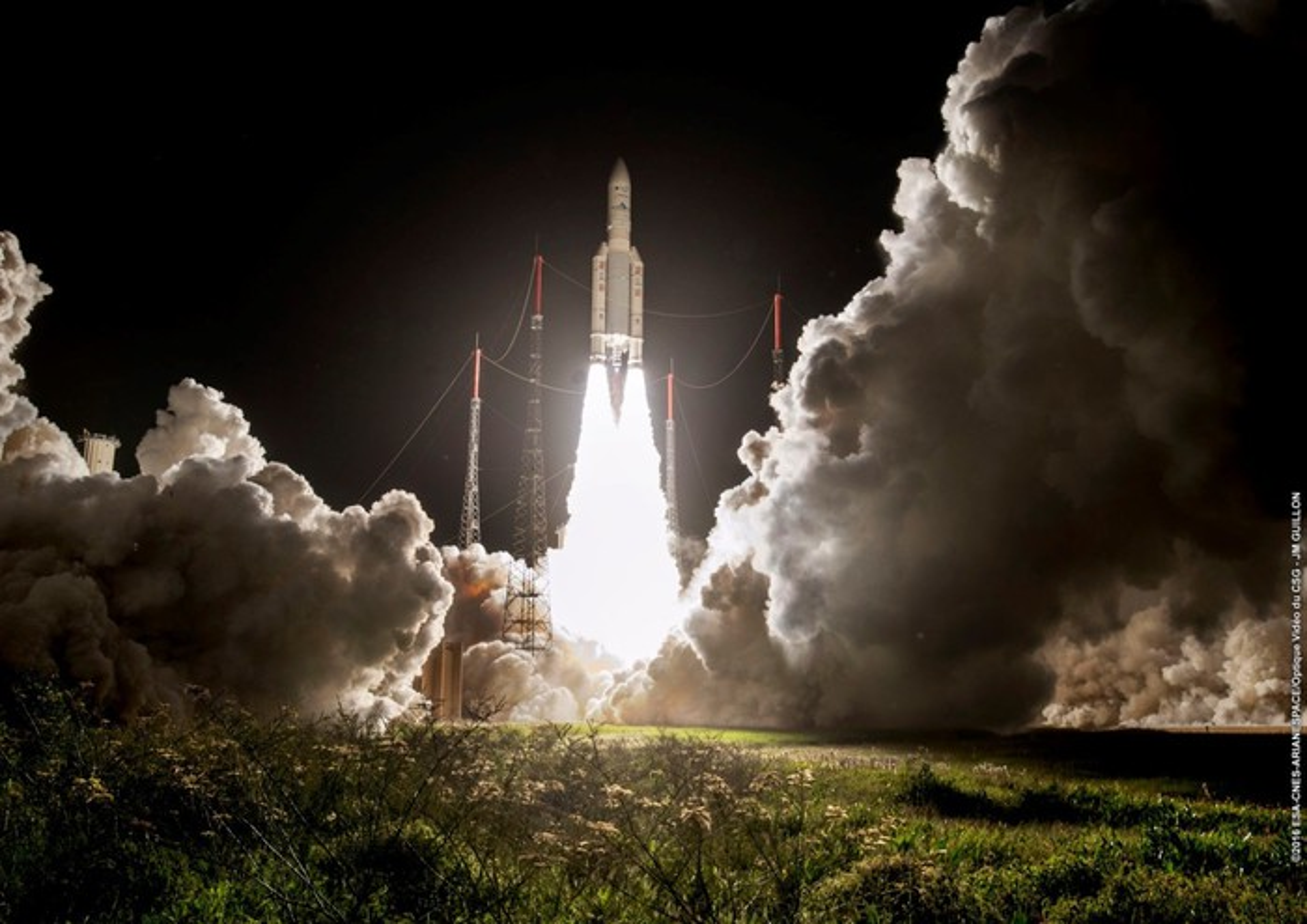 Intelsat's 29e rocket launch.