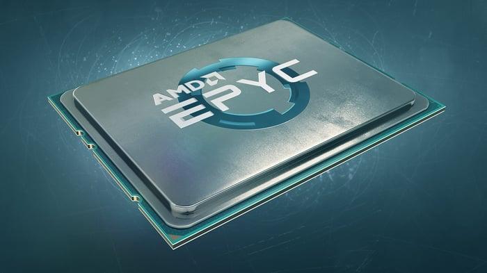 An AMD EPYC chip.