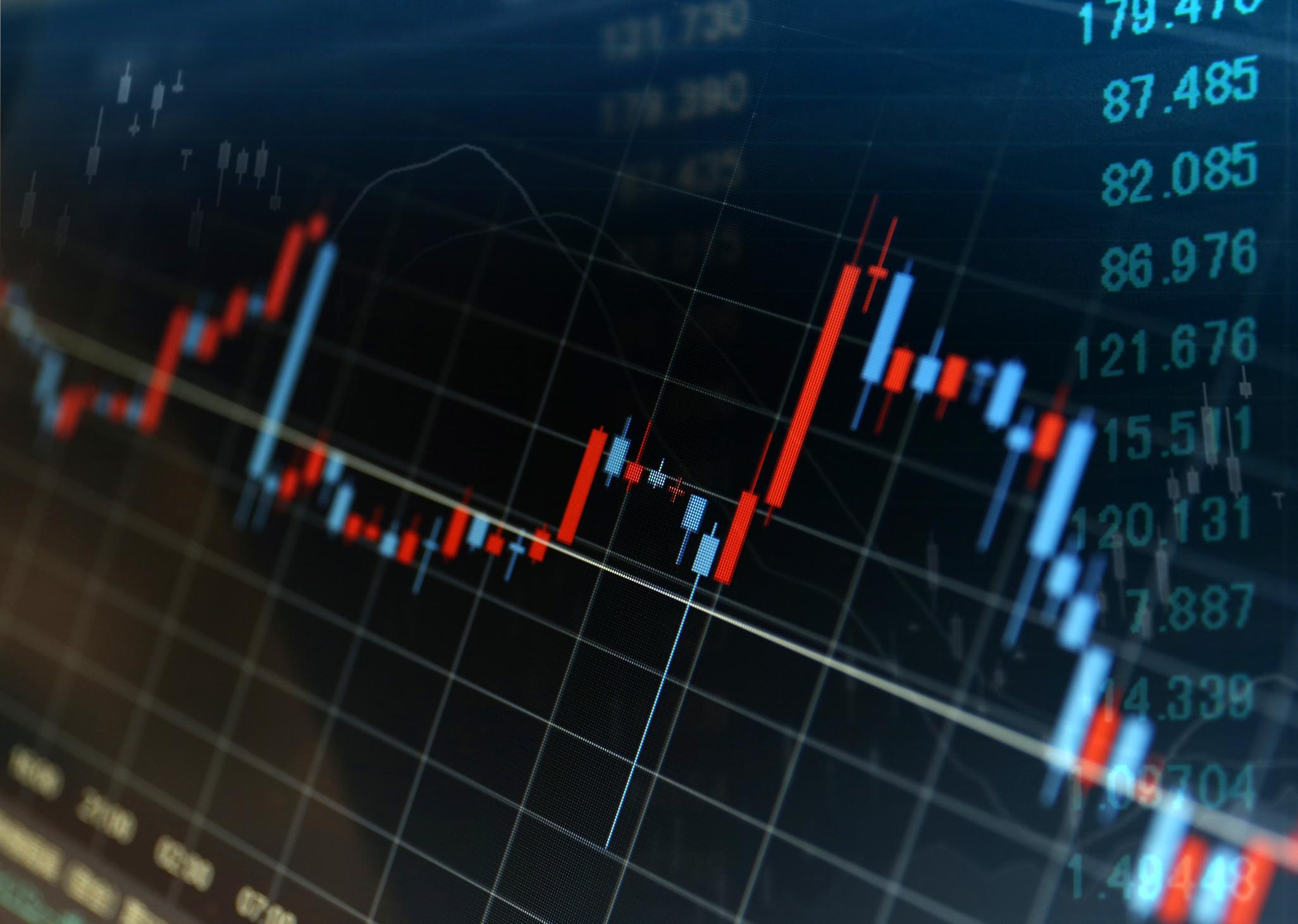 Stock bar graph.