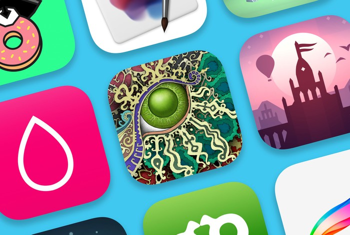A variety of iOS app icons.