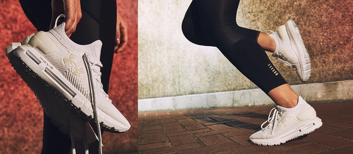A pair of women's HOVR sneakers.