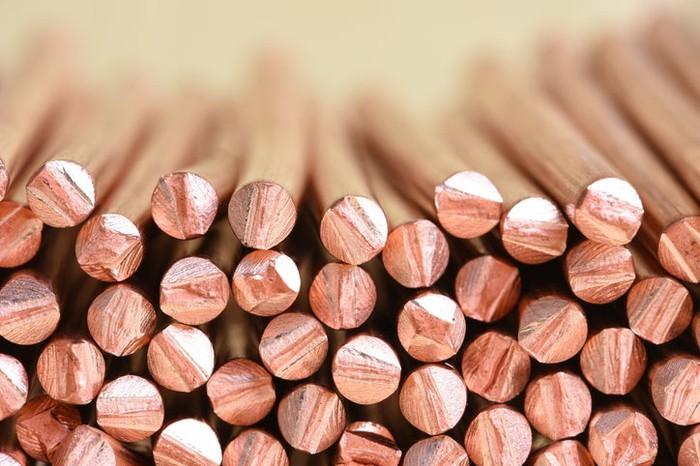 Raw copper wires.