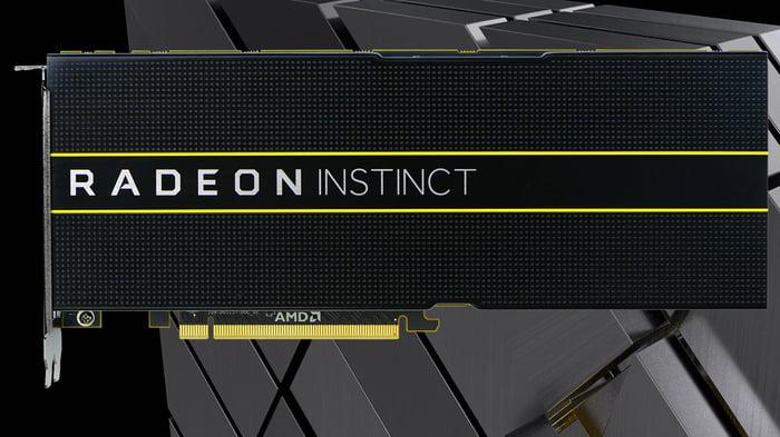 An AMD Radeon Instinct card.