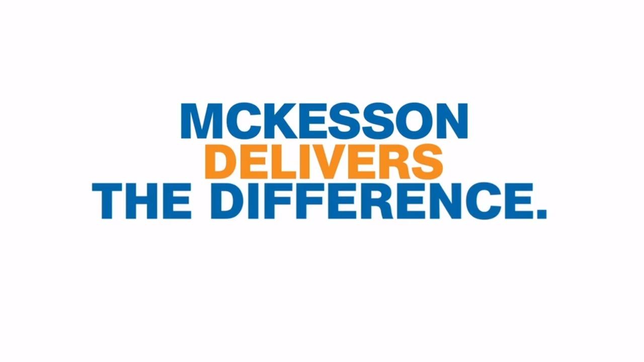 McKesson slogan in blue and orange letters.