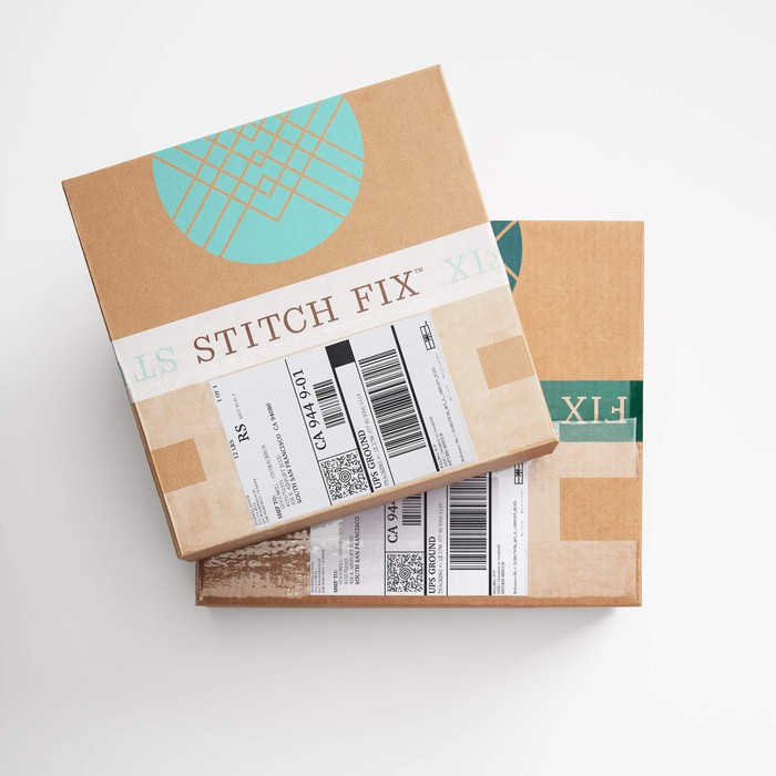 Stitch Fix women's and men's shipping boxes