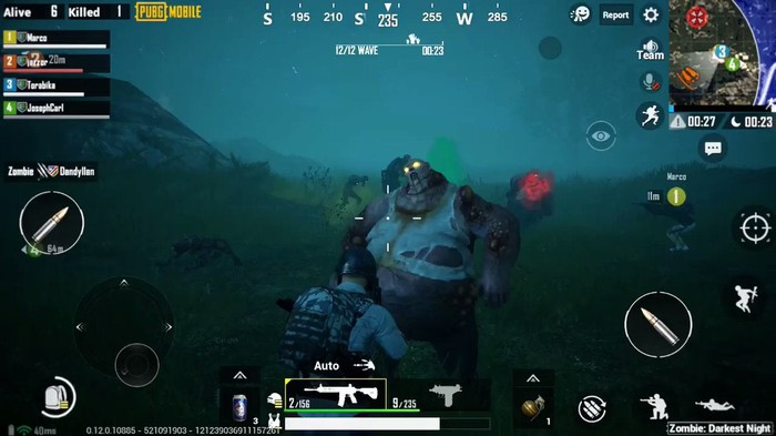 A screenshot from PUBG Mobile's crossover event with Resident Evil.