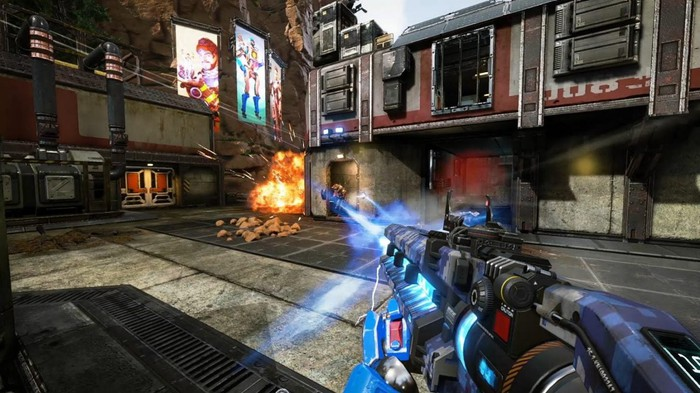 "Screenshot of gameplay action in ""Apex Legends."""