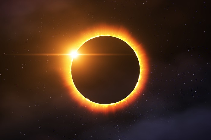 A solar eclipse