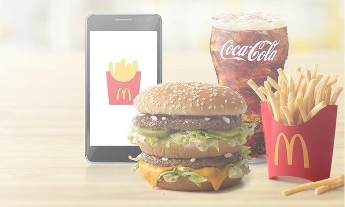 Picture of McDonald's Big Mac, Fries, Coke, iPhone