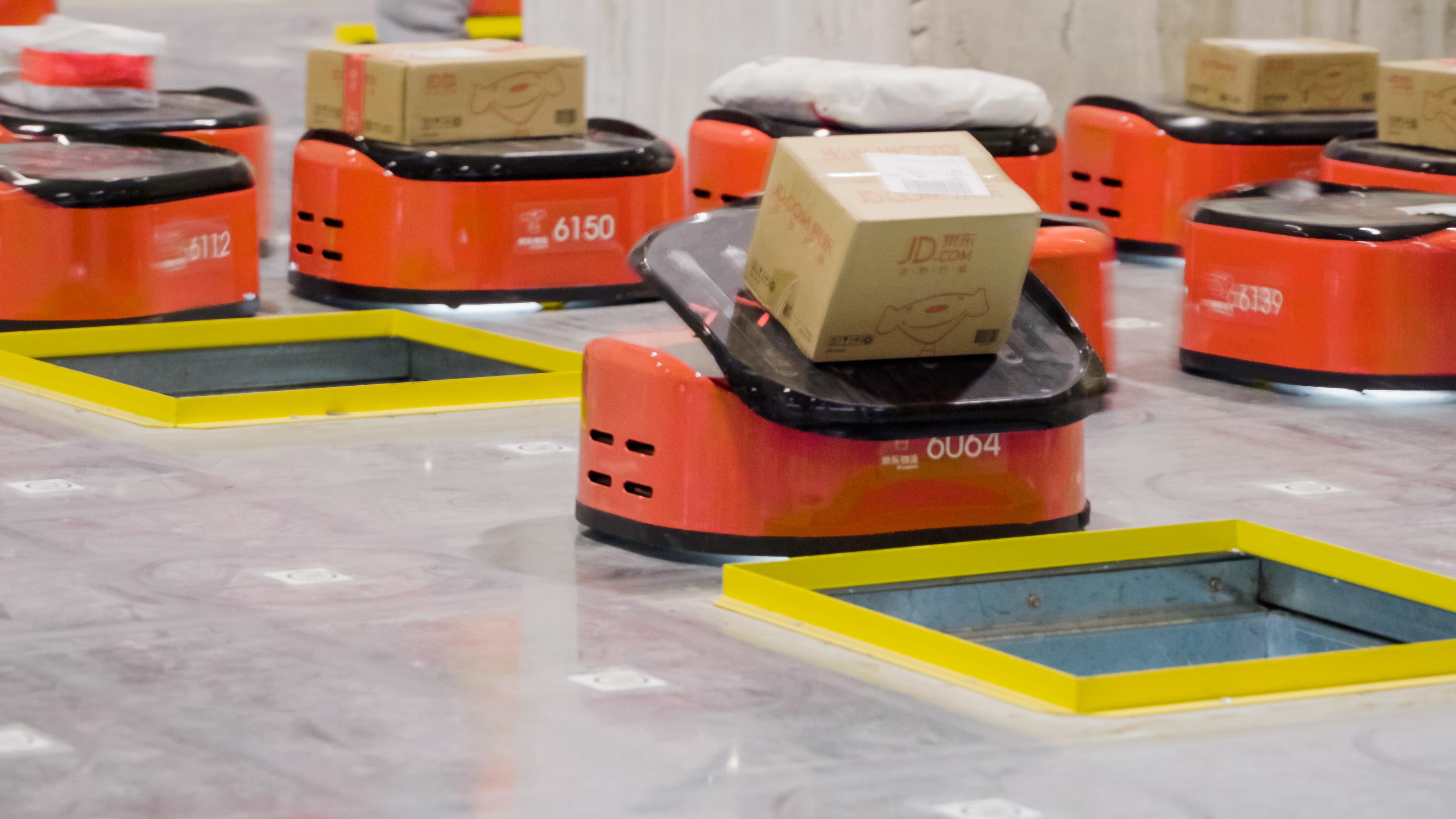 JD's autonomous warehouse robots.