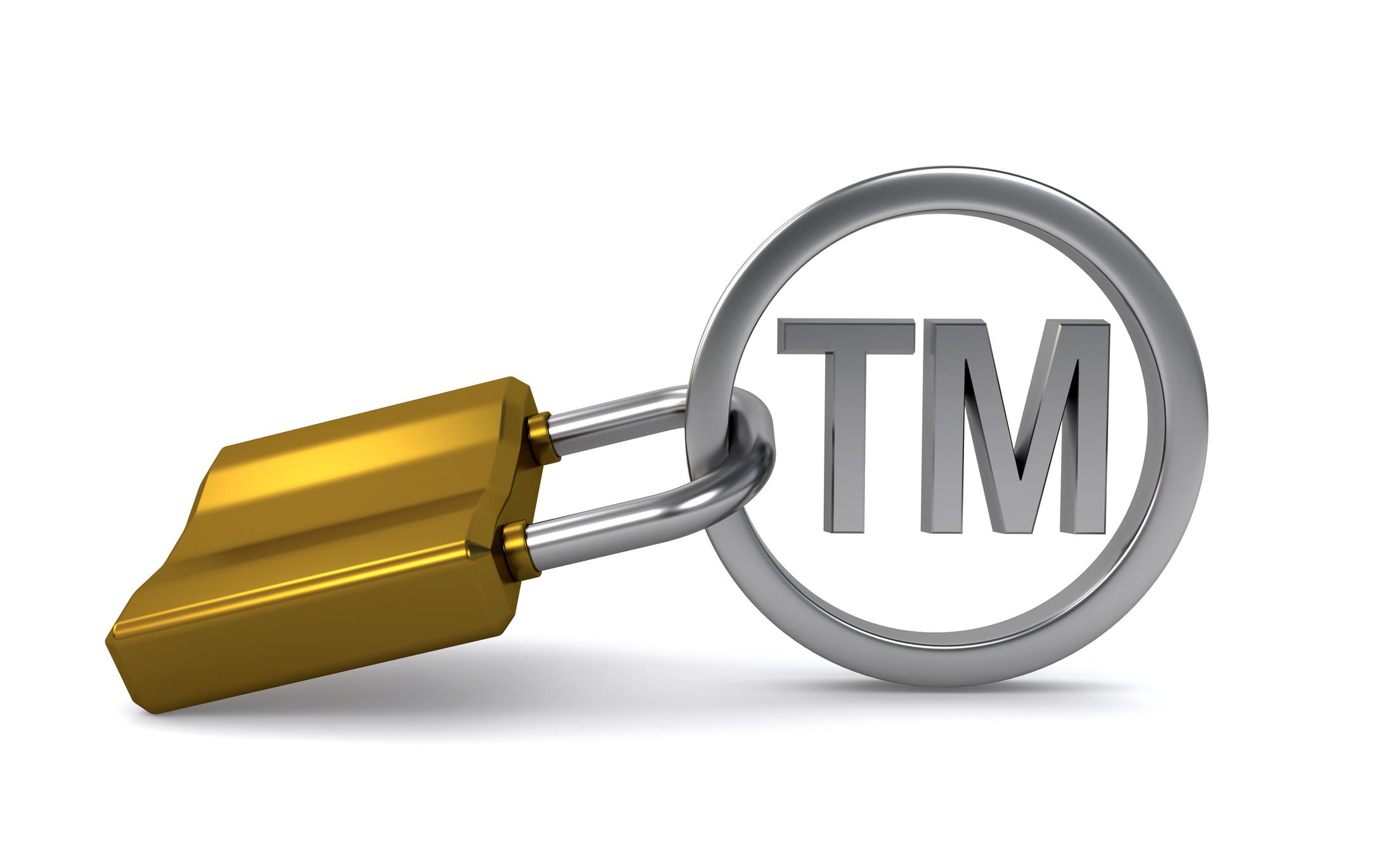 TM symbol with lock