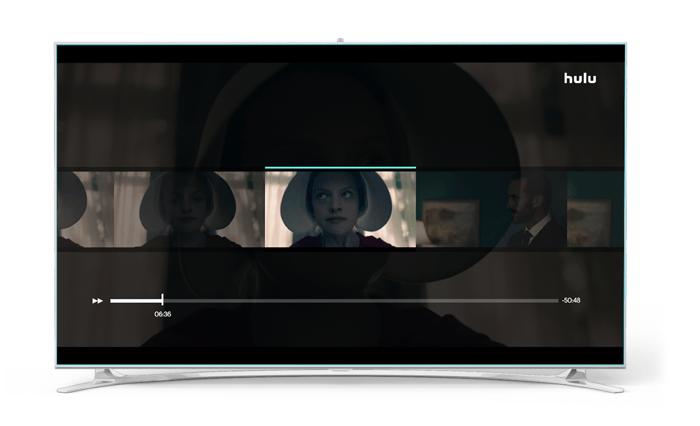 Hulu streaming on a TV