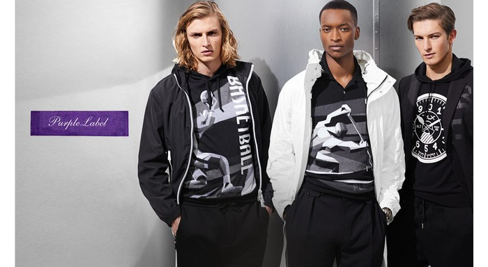 "Ralph Lauren's high-end ""Purple Label"" apparel."