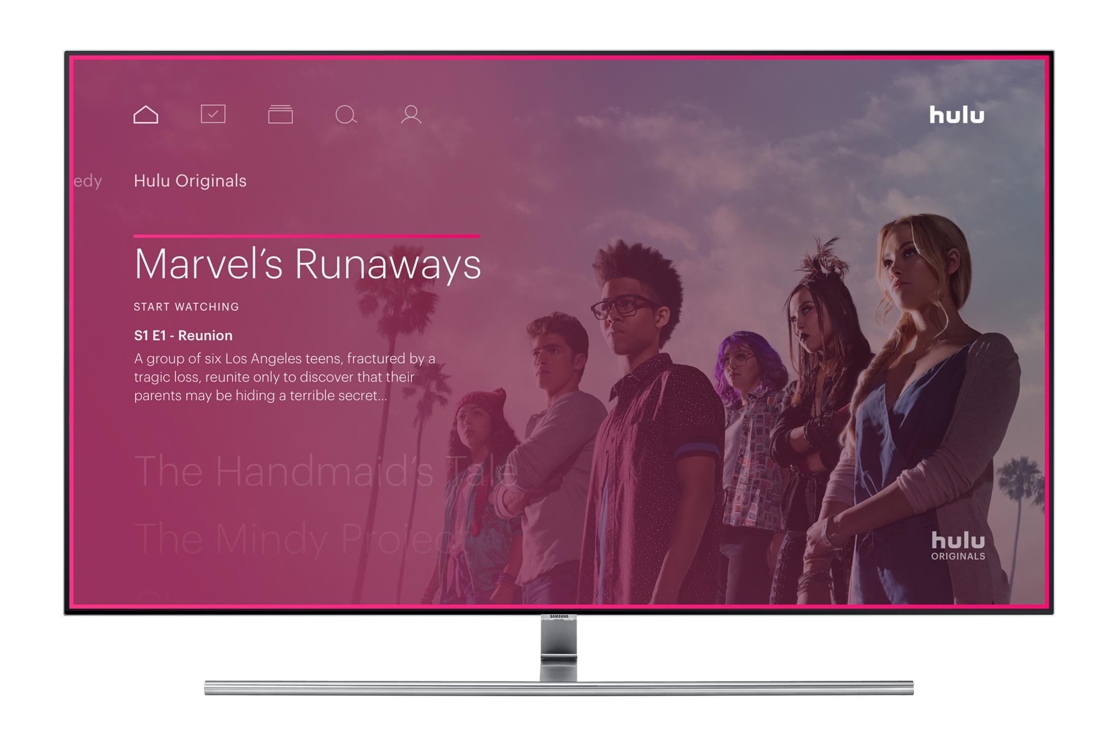 A screen shot of Hulu original series Marvel's Runaways