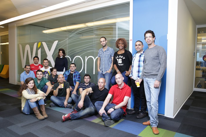 Employees at Wix offices