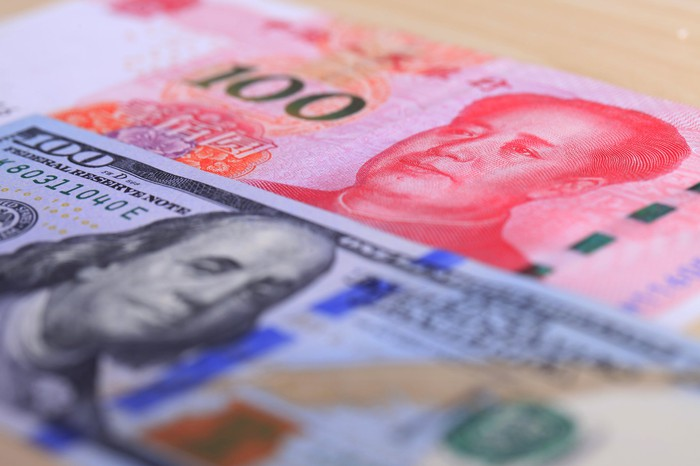 USD and RMB notes.