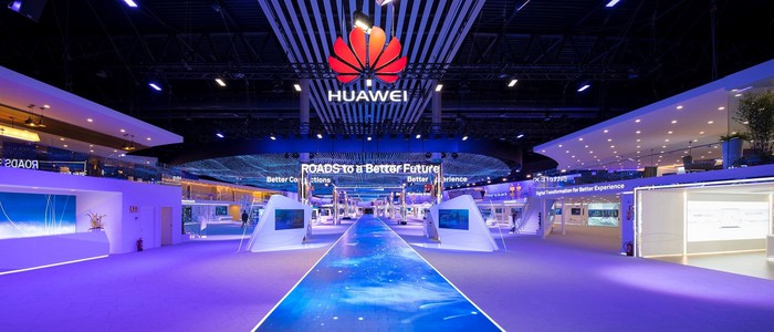 Huawei at Mobile World Congress 2018.