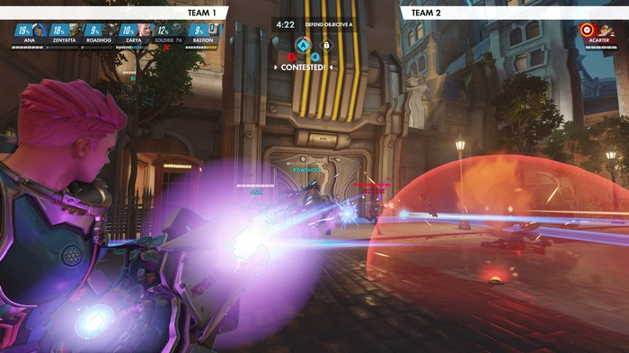A screenshot from Overwatch using its replay feature.