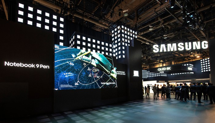 Samsung's booth at CES 2019