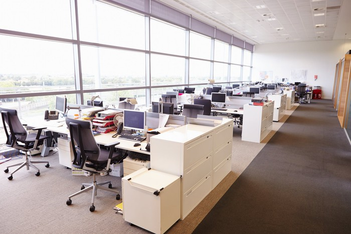 An empty office interior.