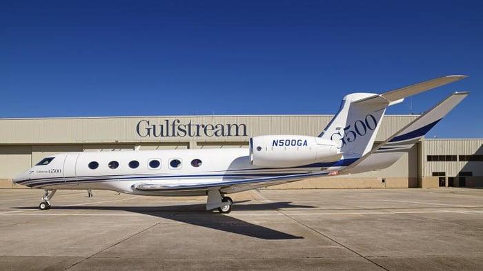 Gulfstream's G500 business jet.