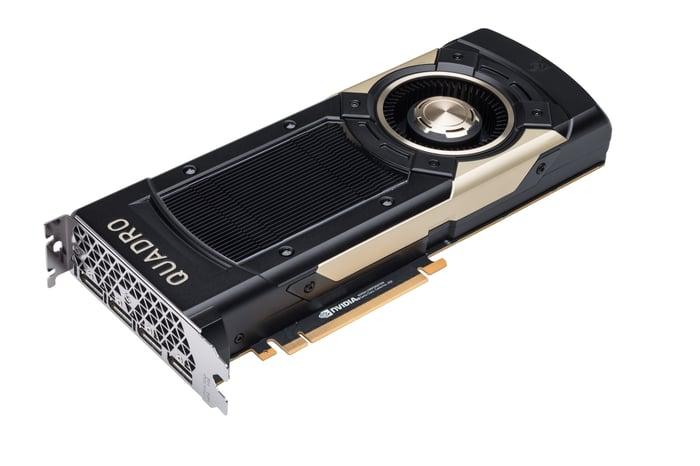 An NVIDIA Quadro GV100 GPU.