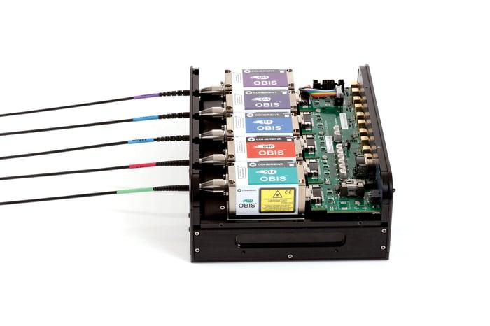 A Coherent laser combiner.