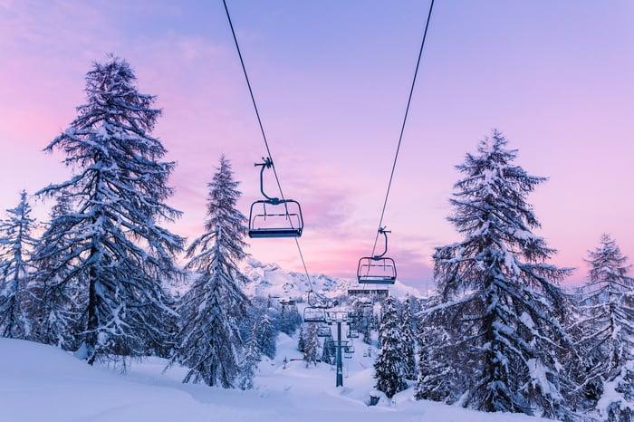 A ski lift.