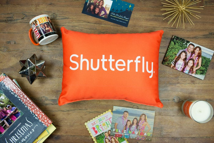 A collection of personalized Shutterfly products.