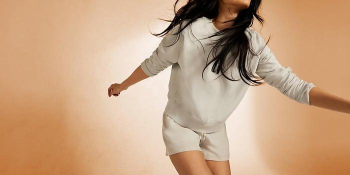 A woman wearing Lululemon's activewear.