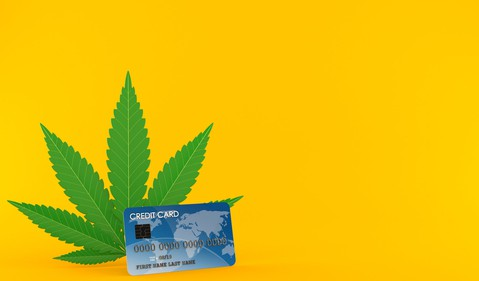 Cannabis Credit Card Marijuana Pot Weed Dispensary Retail Getty