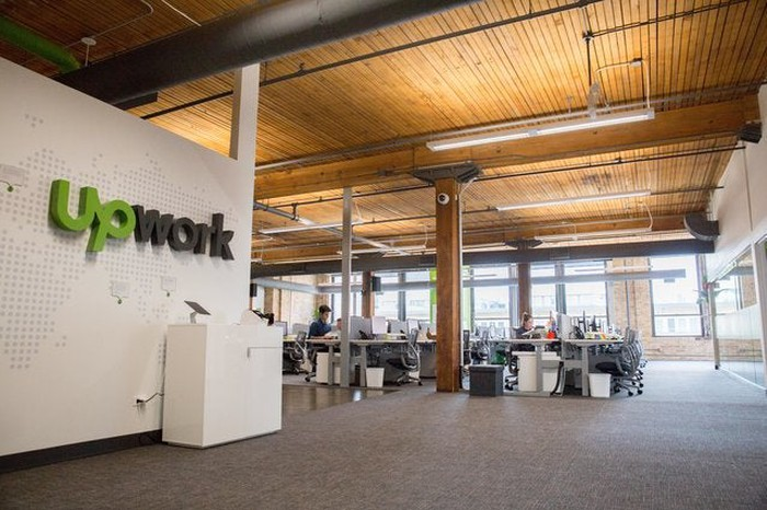 Interior shot of Upwork offices.