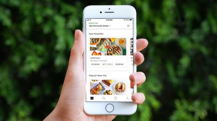 Uber Eats app running on a smartphone.