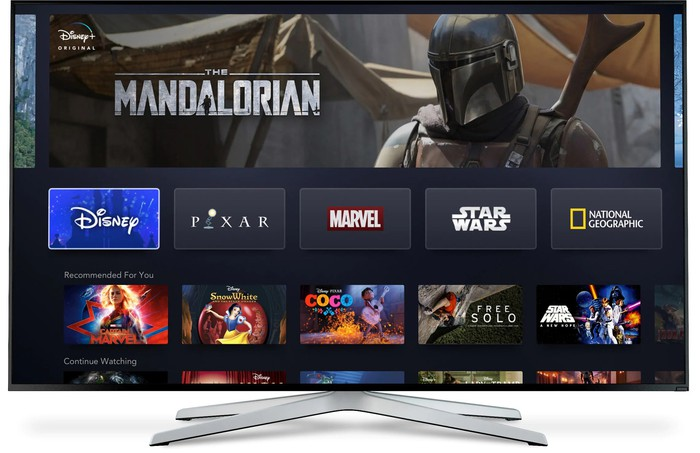 Disney+ on a smart TV