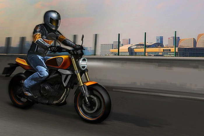 Artist rendering of Harley-Davidson's new small-displacement motorcycle