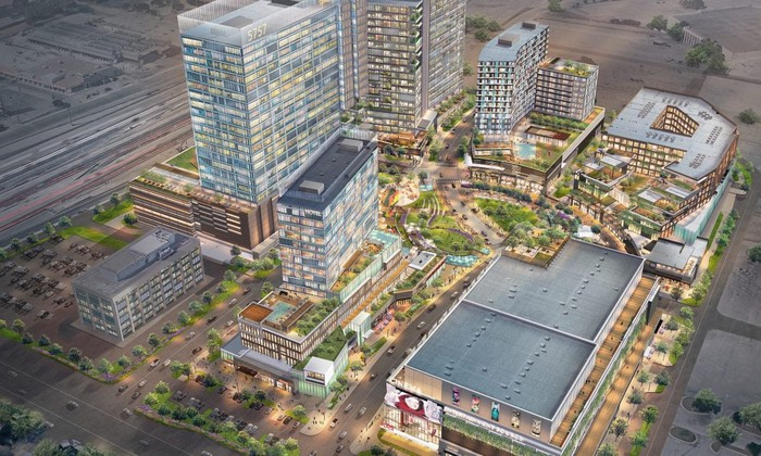 An overhead rendering of the future Park Heritage development in Dallas.